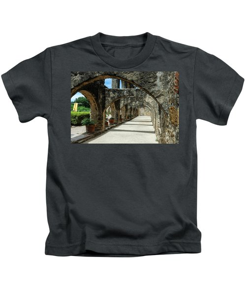 San Antonio Mission Arches Kids T-Shirt