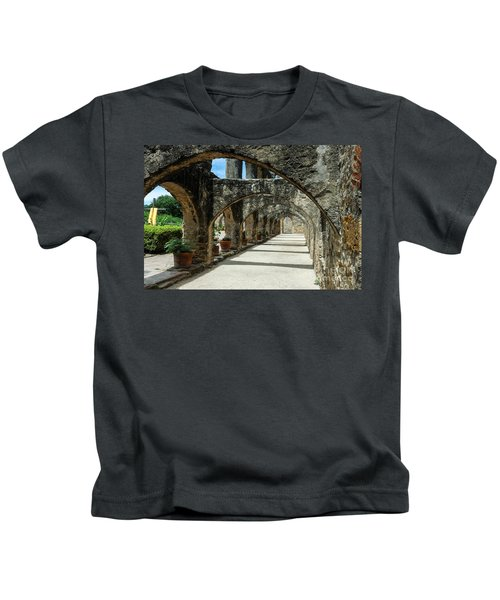 San Antonio Mission Arches Kids T-Shirt