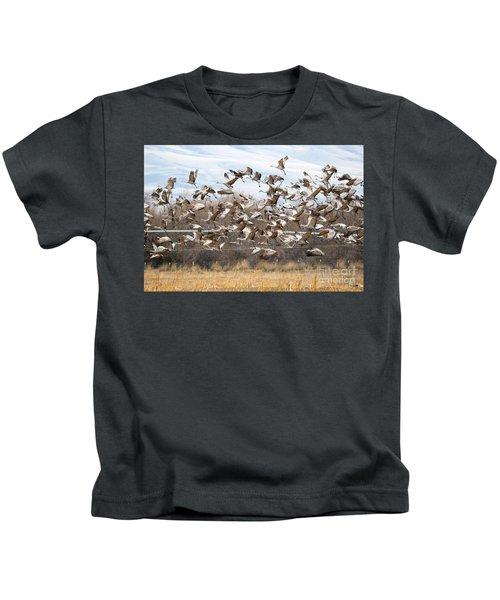 Sandhill Crane Explosion Kids T-Shirt