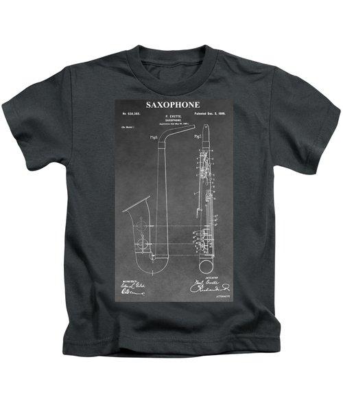 Saxophone Patent Kids T-Shirt