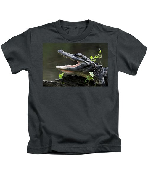 Say Aah - American Alligator Kids T-Shirt