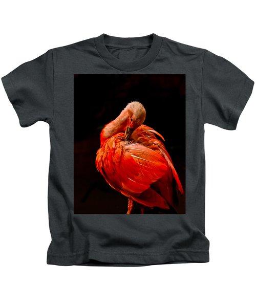 Scarlet Ibis Kids T-Shirt