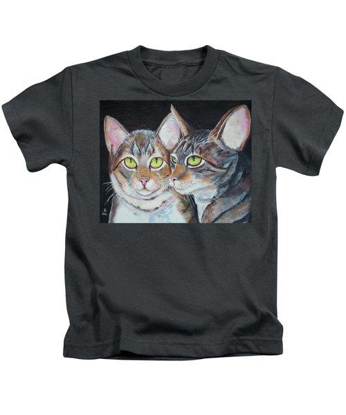Scheming Cats Kids T-Shirt