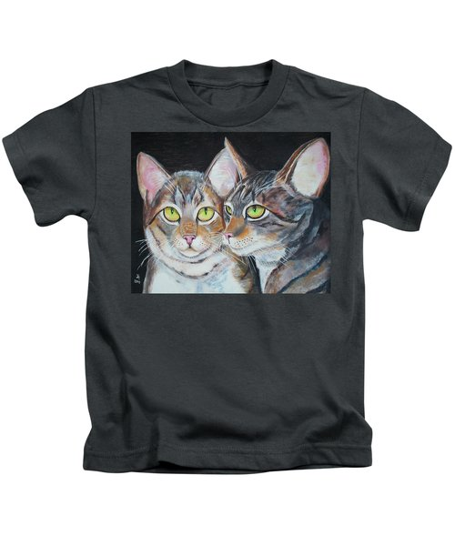 Scheming Cats Kids T-Shirt