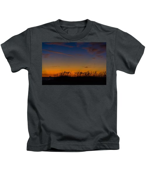 Sea Oats At Twilight Kids T-Shirt