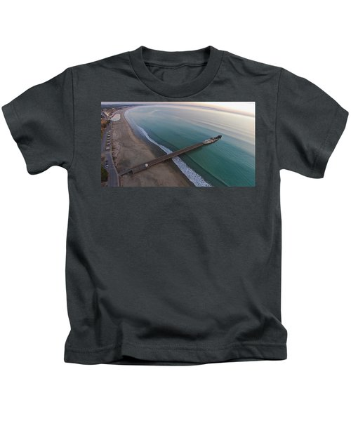 Seacliff State Beach From Above Kids T-Shirt