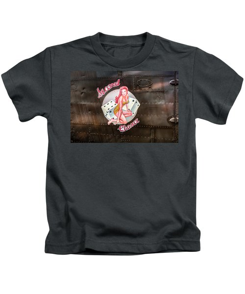 Second Chance - Aircraft Nose Art - Pinup Girl Kids T-Shirt