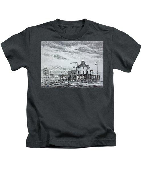 Semiahmoo Lighthouse - Drawing Kids T-Shirt