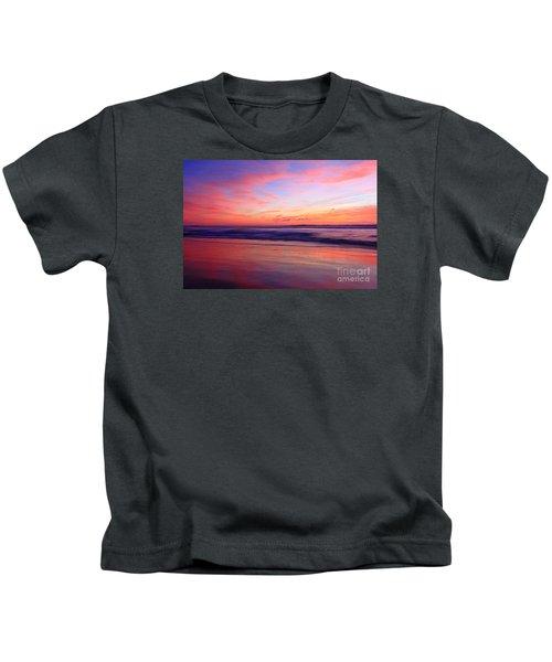 Serene Oceanside Glow Kids T-Shirt