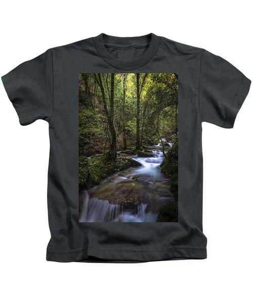 Sesin Stream Near Caaveiro Kids T-Shirt