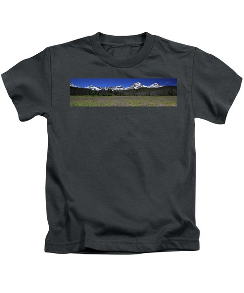 Showy Penstemon Wildflowers Sawtooth Mountains Kids T-Shirt