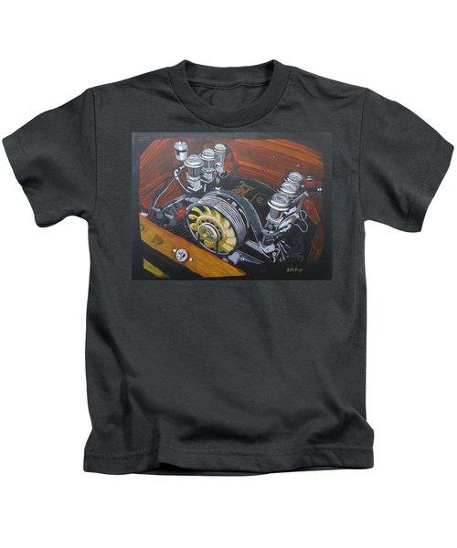 Singer Porsche Engine Kids T-Shirt