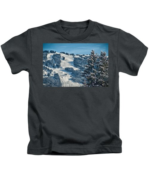 Ski Run Kids T-Shirt
