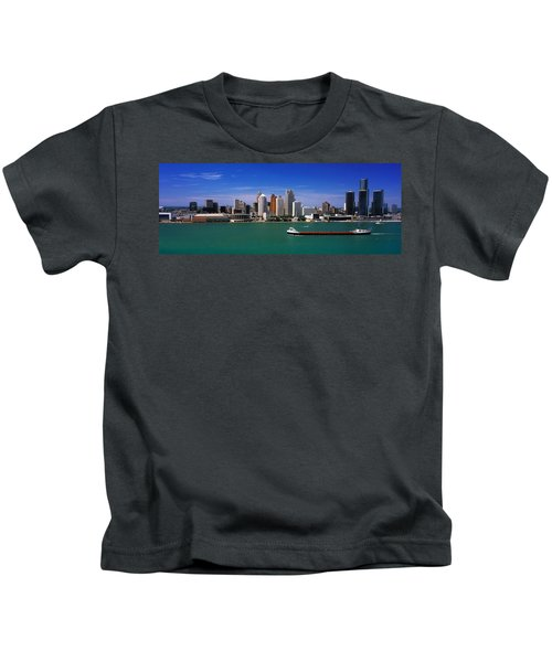 Skylines At The Waterfront, River Kids T-Shirt