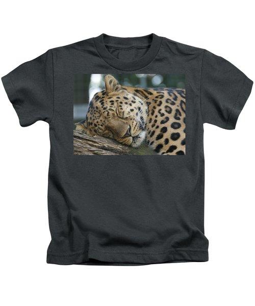 Sleeping Leopard Kids T-Shirt