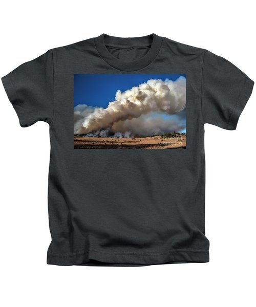 Smoke Column From The Norbeck Prescribed Fire. Kids T-Shirt