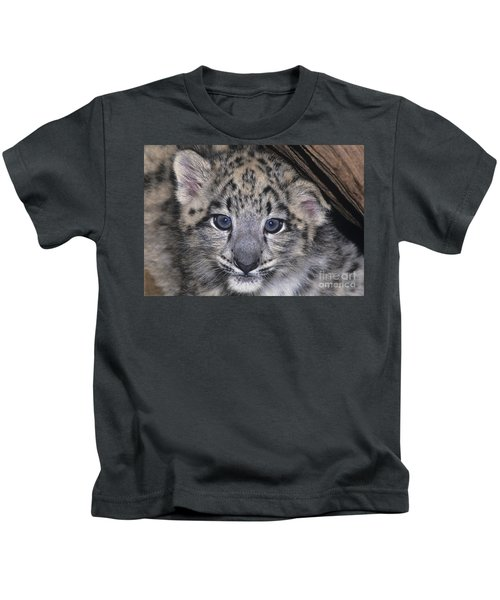 Snow Leopard Cub Endangered Kids T-Shirt