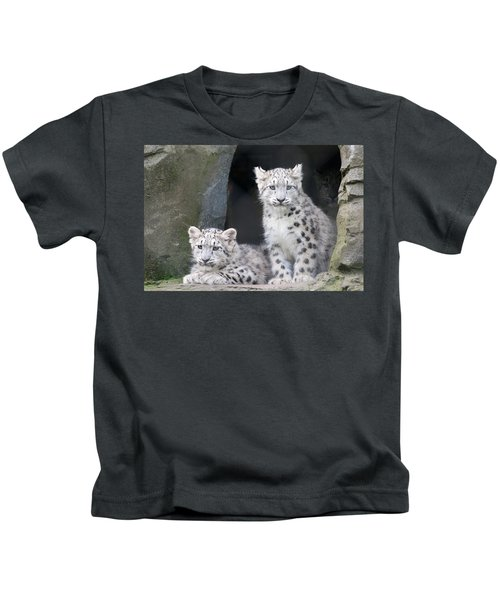 Snow Leopard Cubs Kids T-Shirt