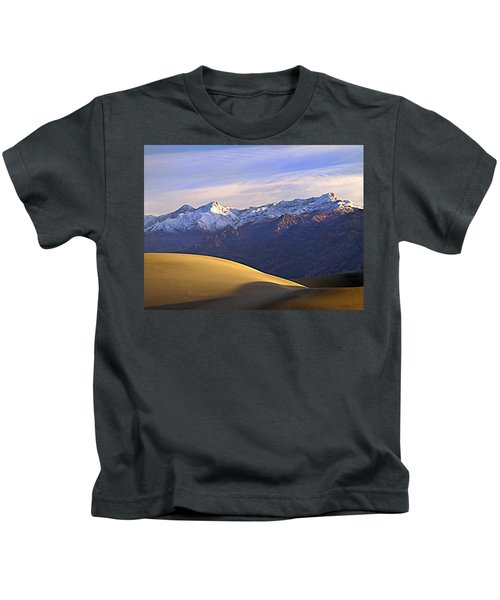 Snow On The Grapevine Range.  Kids T-Shirt