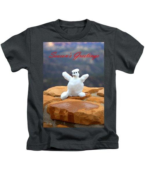 Snowball Snowman Kids T-Shirt
