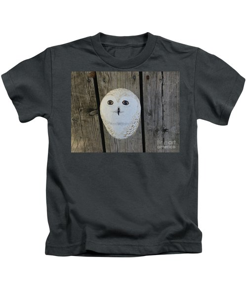 Snowy Owl Rock Kids T-Shirt