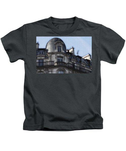 Softer Side Of Paris Architecture Kids T-Shirt