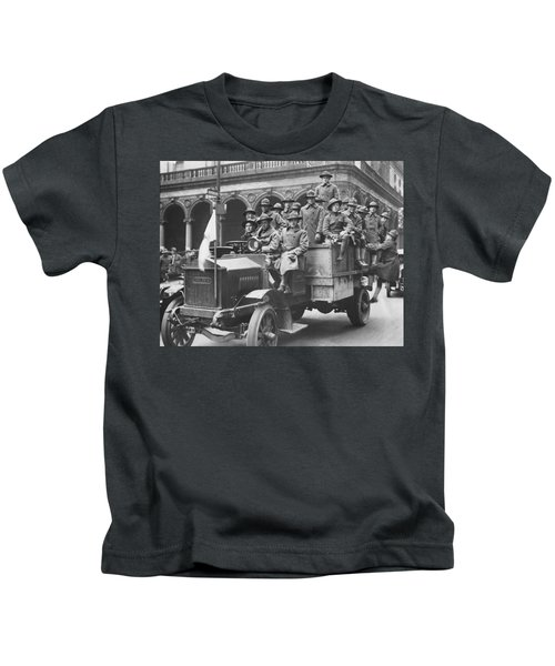 Soldiers At Free Circus Show Kids T-Shirt