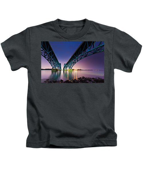 South Grand Island Bridge Kids T-Shirt