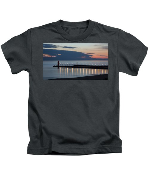 South Haven Michigan Lighthouse Kids T-Shirt