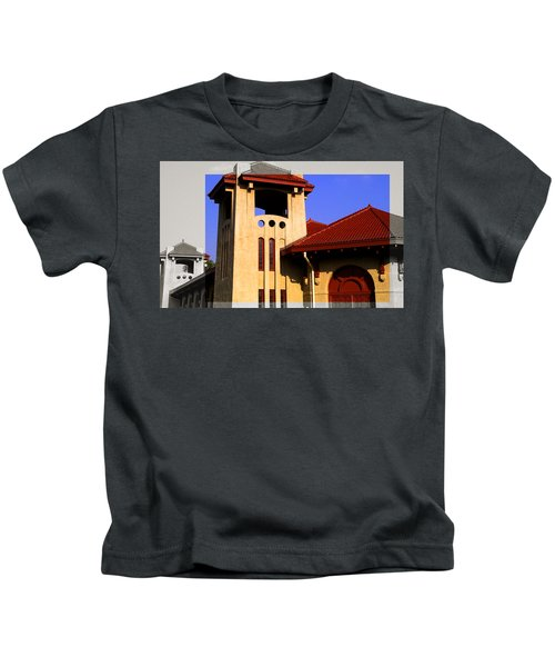 Spanish Architecture Tile Roof Tower Kids T-Shirt