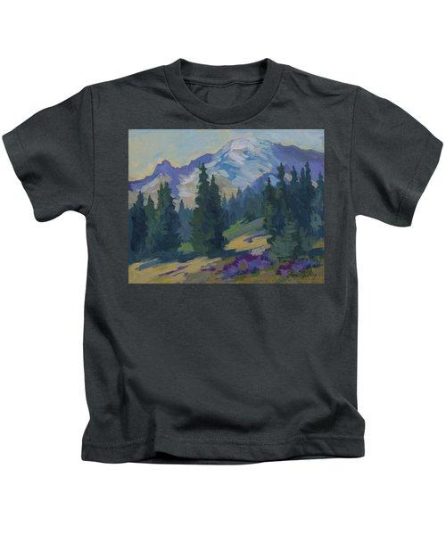 Spring At Mount Rainier Kids T-Shirt