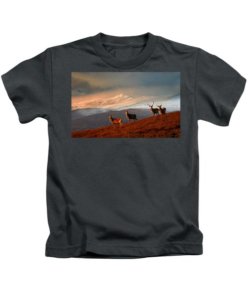 Stags At Strathglass Kids T-Shirt