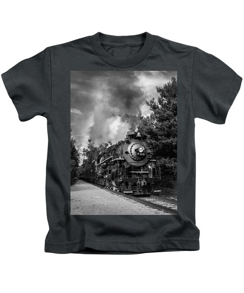Steam On The Rails Kids T-Shirt