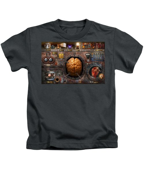 Steampunk - Information Overload Kids T-Shirt