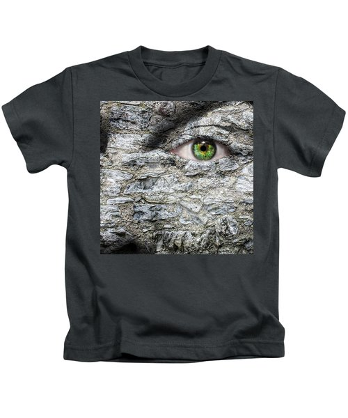 Stone Face Kids T-Shirt by Semmick Photo