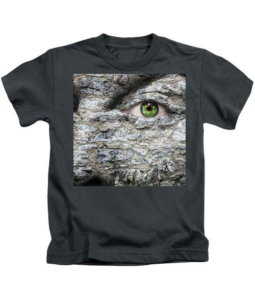 Stone Face Kids T-Shirt by Semmick Photo