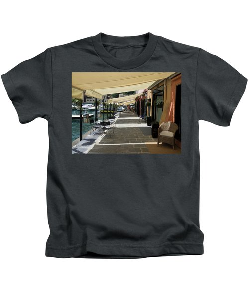 Stores With Awnings, Portofino Kids T-Shirt
