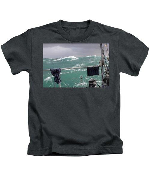 Storm On Tasman Sea Kids T-Shirt