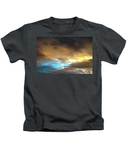 Stratus Clouds At Sunset Bring Serenity Kids T-Shirt