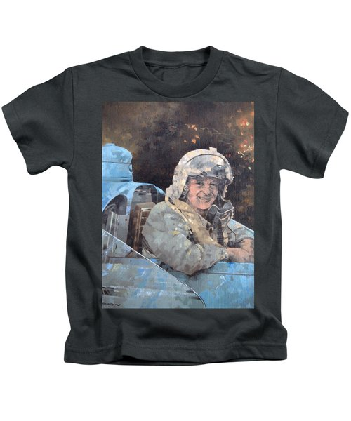 Study For Donald Campbell Oil On Canvas Kids T-Shirt