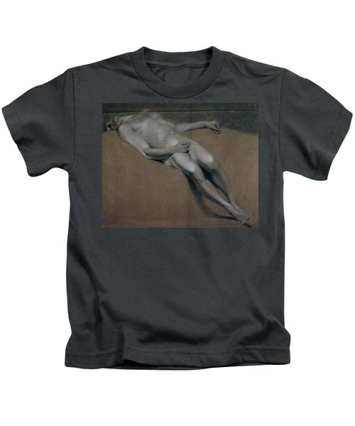 Study Of A Recumbent Male Nude Kids T-Shirt