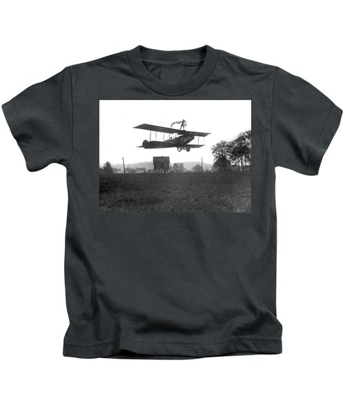 Stunts Atop A Biplane Kids T-Shirt