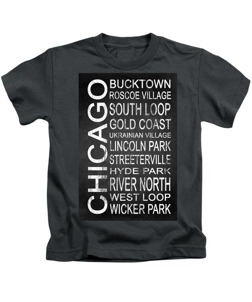 Subway Chicago 2 Kids T-Shirt by Melissa Smith