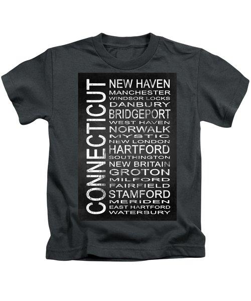 Subway Connecticut State 1 Kids T-Shirt