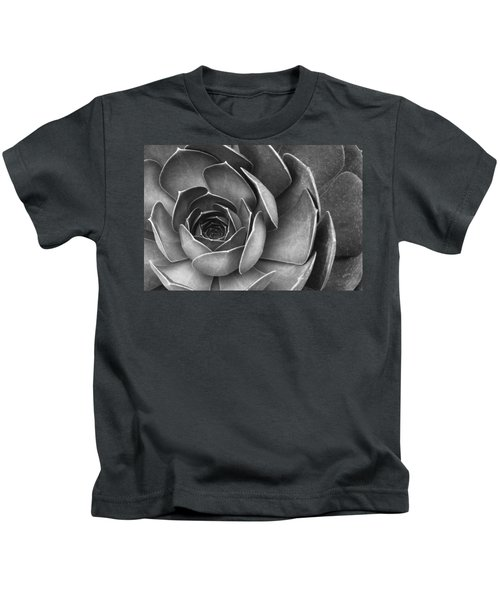 Succulent In Black And White Kids T-Shirt