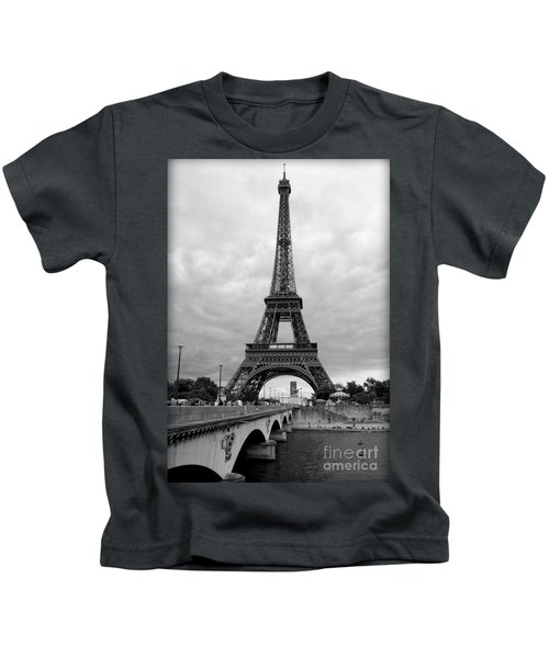 Summer Storm Over The Eiffel Tower Kids T-Shirt