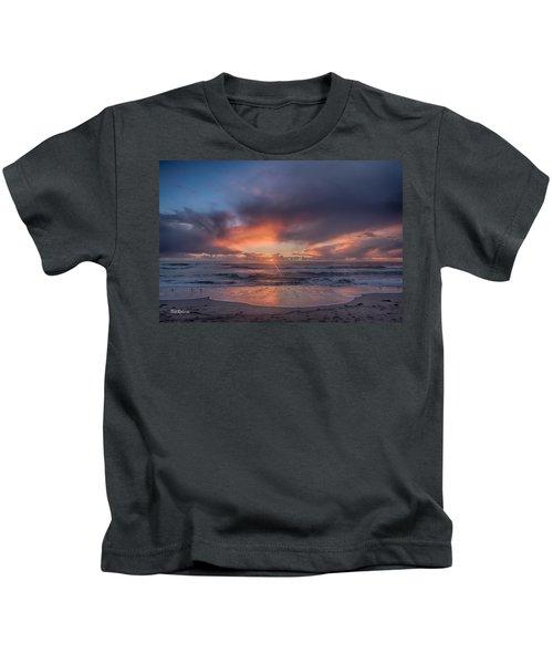 Sundown At Moss Landing Kids T-Shirt