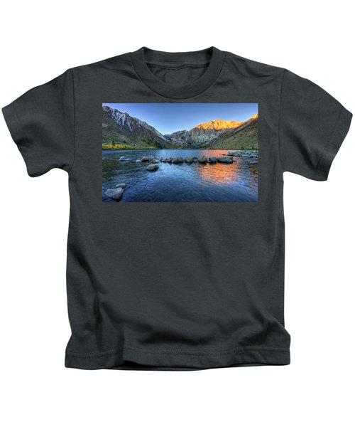 Sunrise At Convict Lake Kids T-Shirt