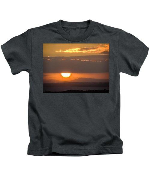 Sunrise Over River Shannon Kids T-Shirt