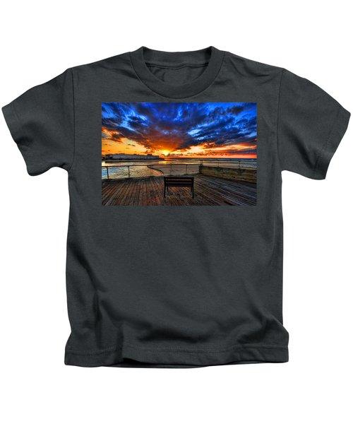 sunset at the port of Tel Aviv Kids T-Shirt
